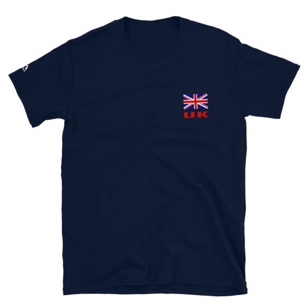 UK Flag On Left Chest T-Shirt