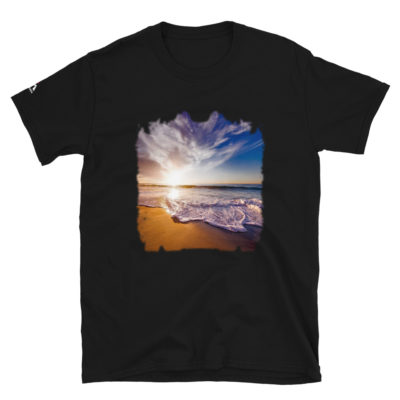 Beach At Dusk , Background Wallpaper  T-Shirt