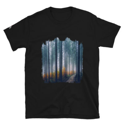 Autumn Forest Trees, Background Wallpaper T-Shirt
